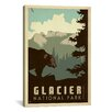iCanvasArt 'Glacier National Park' by Anderson Design Group Vintage Advertisement on Canvas