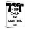 iCanvas Keep Calm and Martial On Textual Art on Canvas