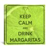 <strong>iCanvasArt</strong> Keep Calm and Drink Margaritas Textual Art on Canvas