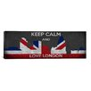 iCanvas Keep Calm and Love London Textual Art on Canvas