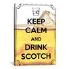 <strong>Keep Calm and Drink Scotch Textual Art on Canvas</strong> by iCanvasArt
