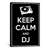 iCanvas Keep Calm and Dj Textual Art on Canvas