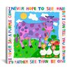 "<strong>iCanvasArt</strong> ""I Never Saw a Purple Cow"" Canvas Wall Art by Cheryl Piperberg"