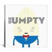 iCanvas Kids Children Humpty Dumpty Graphic Canvas Wall Art