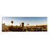 iCanvas Panoramic Hot Air Balloons over Cappadocia at Sunrise, Central Anatolia Region, Turkey Photographic Print on Canvas