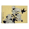 iCanvas Ando Hiroshige 'Hydrangea and Swallow' by Katsushika Hokusai Graphic Art on Canvas