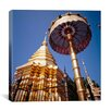 iCanvas Golden Chedi, Wat Phrathat Doi Suthep, Chiang Mai Province Thailand Canvas Wall Art
