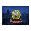 iCanvas Idaho Flag, City of Rock Graphic Art on Canvas