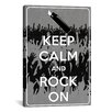 iCanvas Keep Calm and Rock On Textual Art on Canvas
