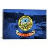 iCanvasArt Idaho Flag, Shoshone Falls Graphic Art on Canvas
