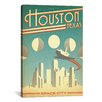iCanvas 'Houston, Texas' by Anderson Design Group Vintage Advertisement on Canvas