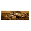 iCanvas Panoramic Fishing Boats in the Sea, Morro Bay, San Luis Obispo County, California Photographic Print on Canvas