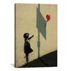 iCanvas Hopeful Balloon Girl Graphic Art on Canvas