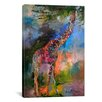iCanvasArt 'Giraffe' by Richard Wallich Painting Print on Canvas