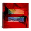 iCanvas Equality Sign, Equal Rights Symbol with Rainbow Flag Graphic Art on Canvas