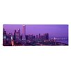 <strong>iCanvasArt</strong> Panoramic Evening Chicago, Illinois Photographic Print on Canvas