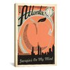 iCanvas 'Georgia's on My Mind - Atlanta' by Anderson Design Group Vintage Advertisement on Canvas