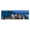 iCanvasArt Panoramic Group of People Racing in a Sailboat, Grenada Photographic Print on Canvas