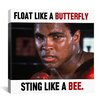 <strong>iCanvasArt</strong> Muhammad Ali Float like a Butterfly Sting like a Bee Graphic Art on Canvas