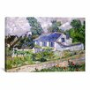 iCanvasArt 'Houses at Auvers' by Vincent Van Gogh Painting Print on Canvas
