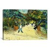 iCanvas 'Entrance to the Public Gardens in Arle' by Vincent van Gogh Painting Print on Canvas