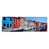 iCanvas Panoramic Houses at The Waterfront, Burano, Venetian Lagoon, Venice, Italy Photographic Print on Canvas