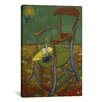 iCanvasArt 'Gauguin's Chair' by Vincent Van Gogh Painting Print on Canvas
