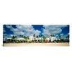 iCanvas Panoramic Art Deco Hotels, Ocean Drive, Miami Beach, Florida Photographic Print on Canvas