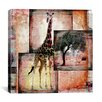 "<strong>iCanvasArt</strong> ""Girafe"" by Luz Graphics Graphic Art on Canvas"