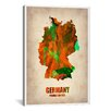 iCanvas Naxart 'Germany Watercolor Map' Graphic Art on Canvas