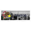 iCanvasArt Illinois Flag, Chicago Skyline Panoramic Graphic Art on Canvas
