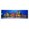 iCanvas Panoramic Building Lit up at Dusk, Navy Pier, Chicago, Illinois Photographic Print on Canvas
