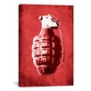 iCanvas Hand Grenade by Michael Tompsett Graphic Art on Canvas