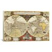 iCanvas Historical Map of the World (1595) Graphic Art on Canvas