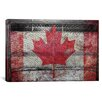 iCanvasArt Canada Hockey Goal Gate #3 Graphic Art on Canvas