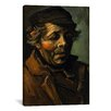 <strong>'Head of a Peasant' by Vincent Van Gogh Painting Print on Canvas</strong> by iCanvasArt