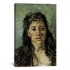 iCanvasArt 'Head of a Prostitute' by Vincent Van Gogh Painting Print on Canvas