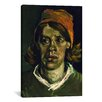 iCanvas 'Head of a Woman' by Vincent Van Gogh Painting Print on Canvas