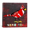 "iCanvas ""Indiana Cardinal"" Canvas Wall Art by David Bowman"