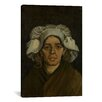 <strong>'Head of a Woman ll' by Vincent Van Gogh Painting Print on Canvas</strong> by iCanvasArt