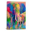 iCanvasArt Elephant by Richard Wallich Painting Print on Canvas