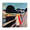 "iCanvasArt ""Four Girls on a Bridge"" Canvas Wall Art by Edvard Munch"