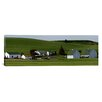 iCanvas Panoramic Farm with Double Barns in Wheat Fields, Washington State Photographic Print on Canvas