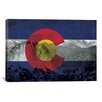 <strong>iCanvasArt</strong> Colorago Flag, Pikes Peak Graphic Art on Canvas