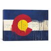 iCanvas Colorado Flag, Metal Rivet with Paint Drips Graphic Art on Canvas
