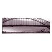 <strong>iCanvasArt</strong> Panoramic Harbor Bridge, Pacific Ocean, Sydney, Australia Photographic Print on Canvas