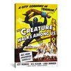 iCanvasArt Creature Walks Among Us Vintage Movie Poster Canvas Print Wall Art