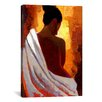 iCanvas Crimson Nude by Keith Mallett Painting Print on Canvas