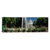 iCanvas Panoramic Fountain in Garden in Front of State Capitol Building, Sacramento, California Photographic Print on Canvas