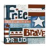 """iCanvas """"Home of the Brave"""" Canvas Wall Art by Pat Yuille"""